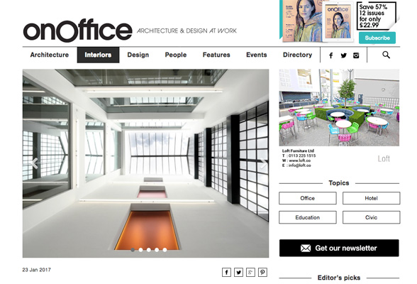 Screenshot of OnOffice website, an online design platform