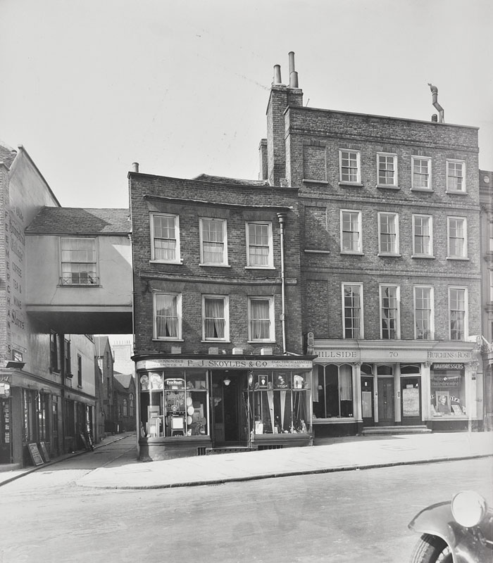 Cascade House, Historic view from Hampstead High Street