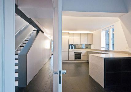 Cascade House, door between landing and kitchen