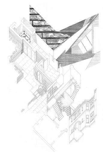 Heath House, Entwurfszeichnung