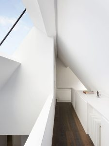Contemporay roof loft space with large roof light