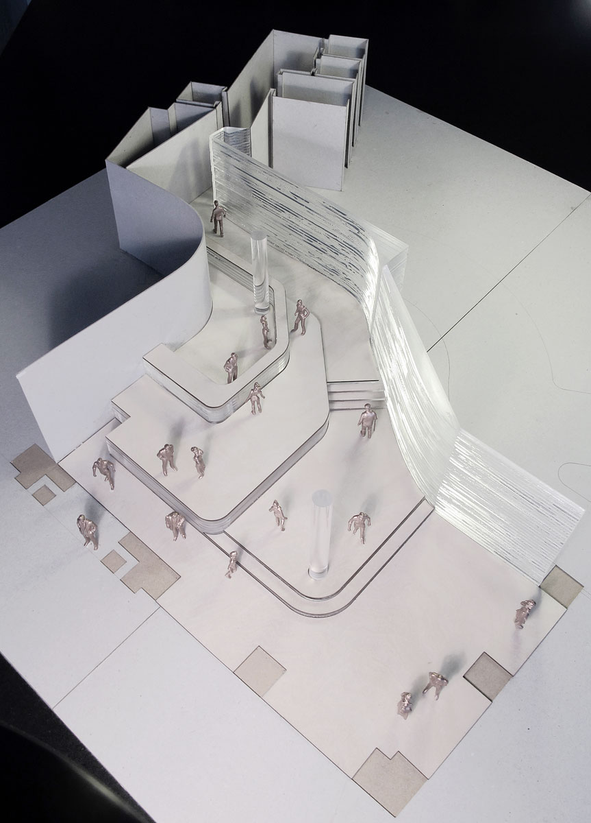 design model of Marconi House entrance lobby