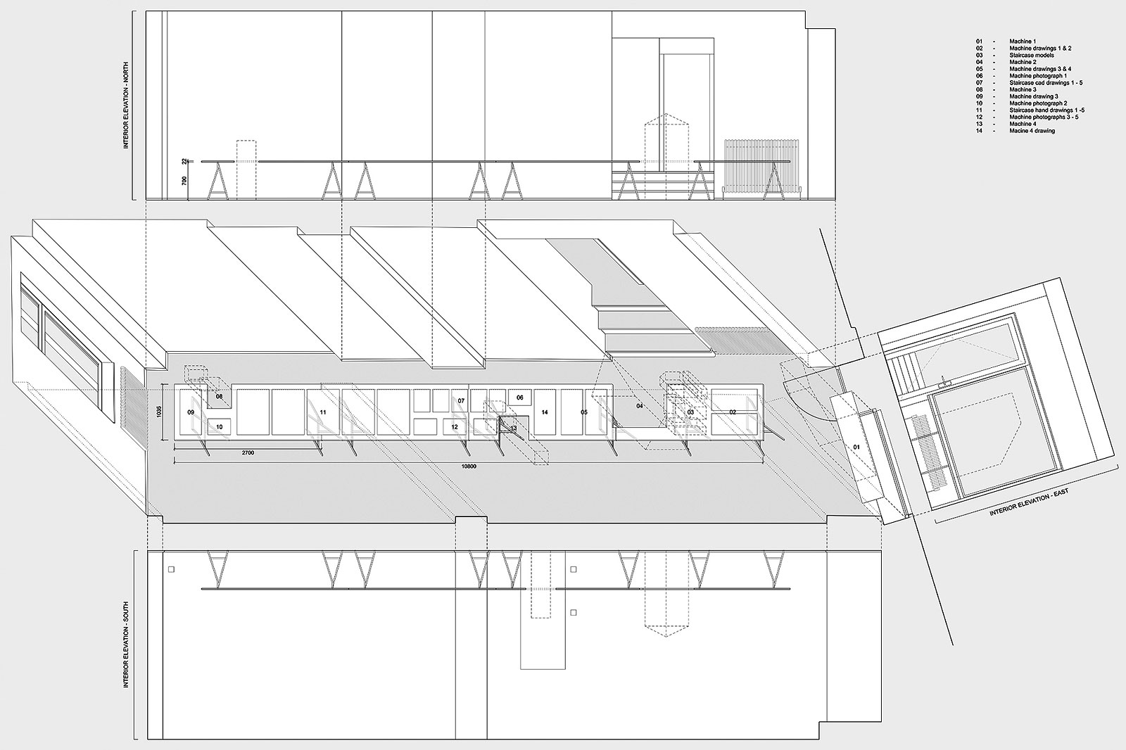 Sensitive Geometries drawing of exhibition space
