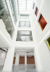 internal office atrium view looking up