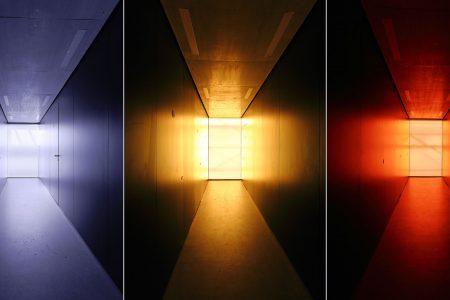 coloured toilet corridors