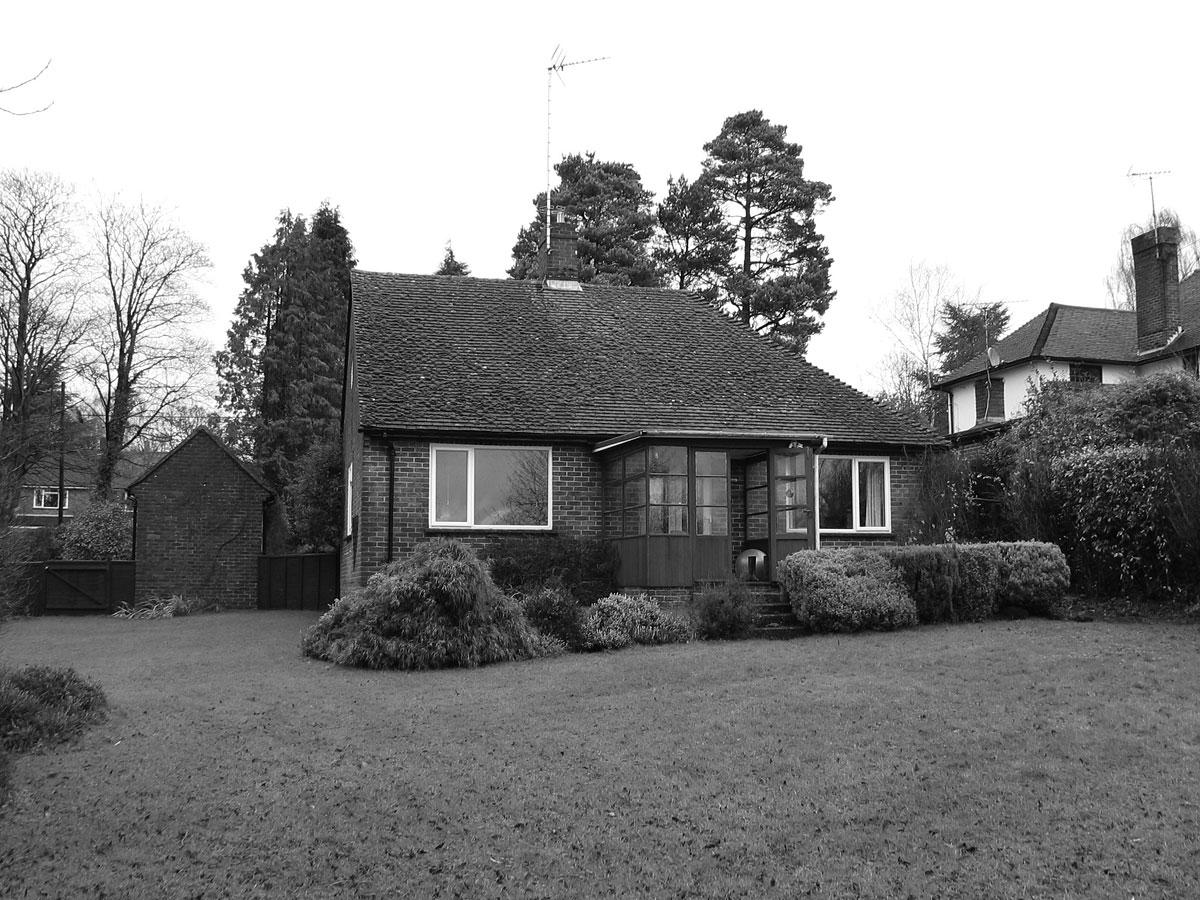 The Coppice, Foto vom alten Haus auf dem Grundstück