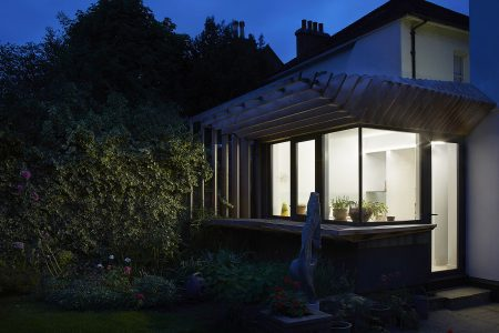 External night view of Wimbledon Garden Room