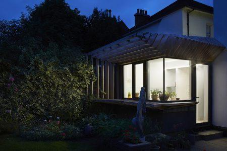 External night view of Wimbledon Garden Room