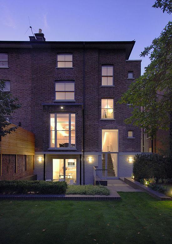Clifton House, photo of rear garden facade
