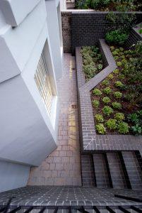 Clifton Hill House, detail front garden