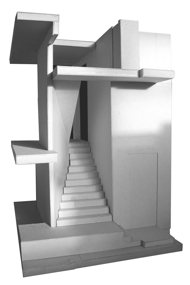 Clifton House, model of staircase