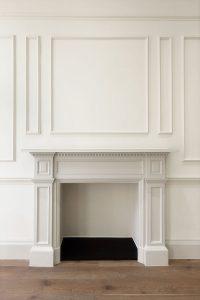 Chandos Street, original fireplace