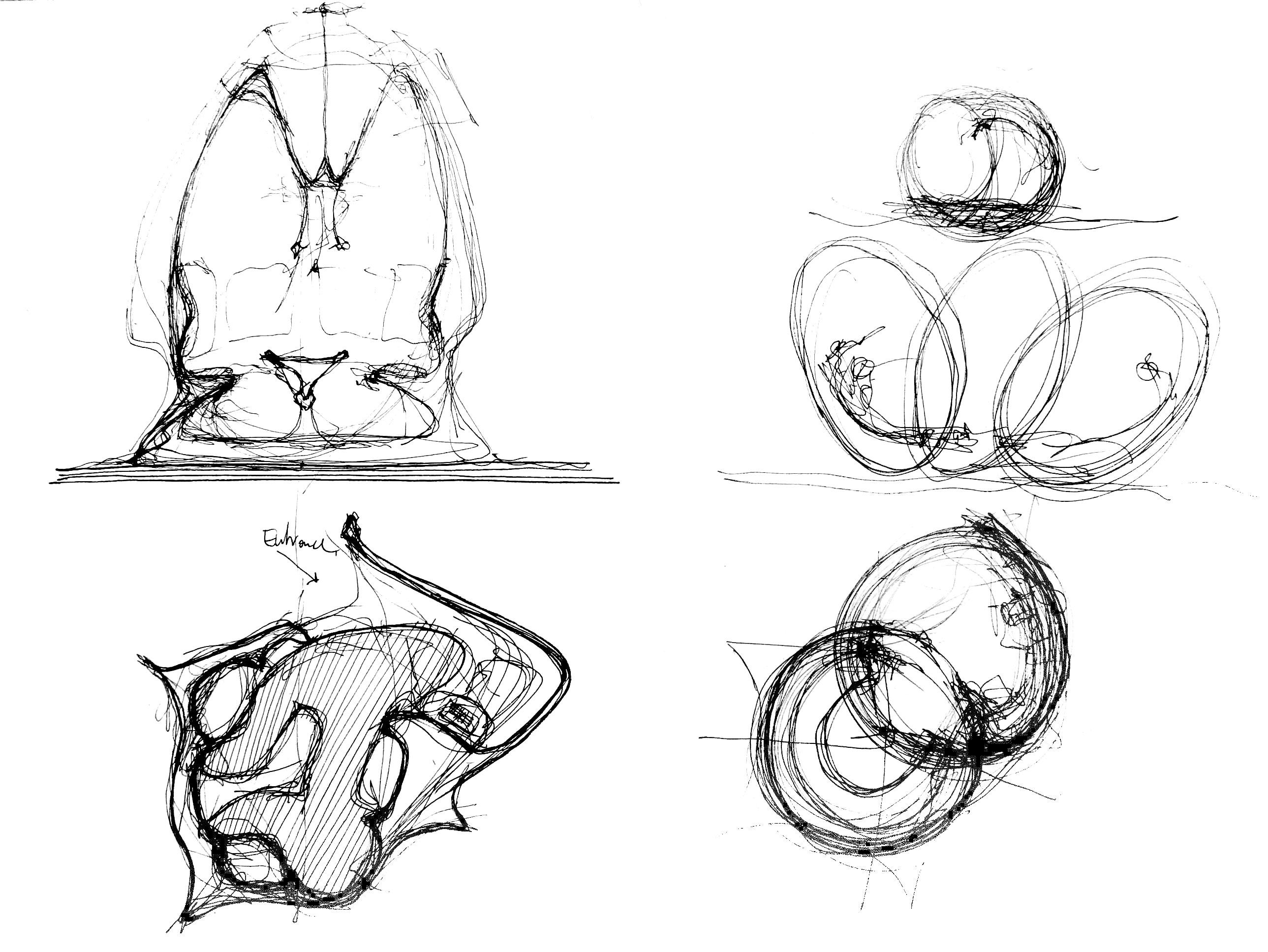 BBc Sound Pod, concept sketch