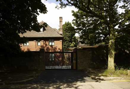 Grove Residence, front gate