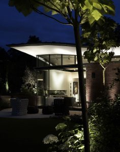 Grove Residence, extension at night
