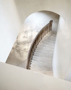 Grove Residence, stone staircase