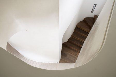 Grove Residence, stone staircase meets timber staircase