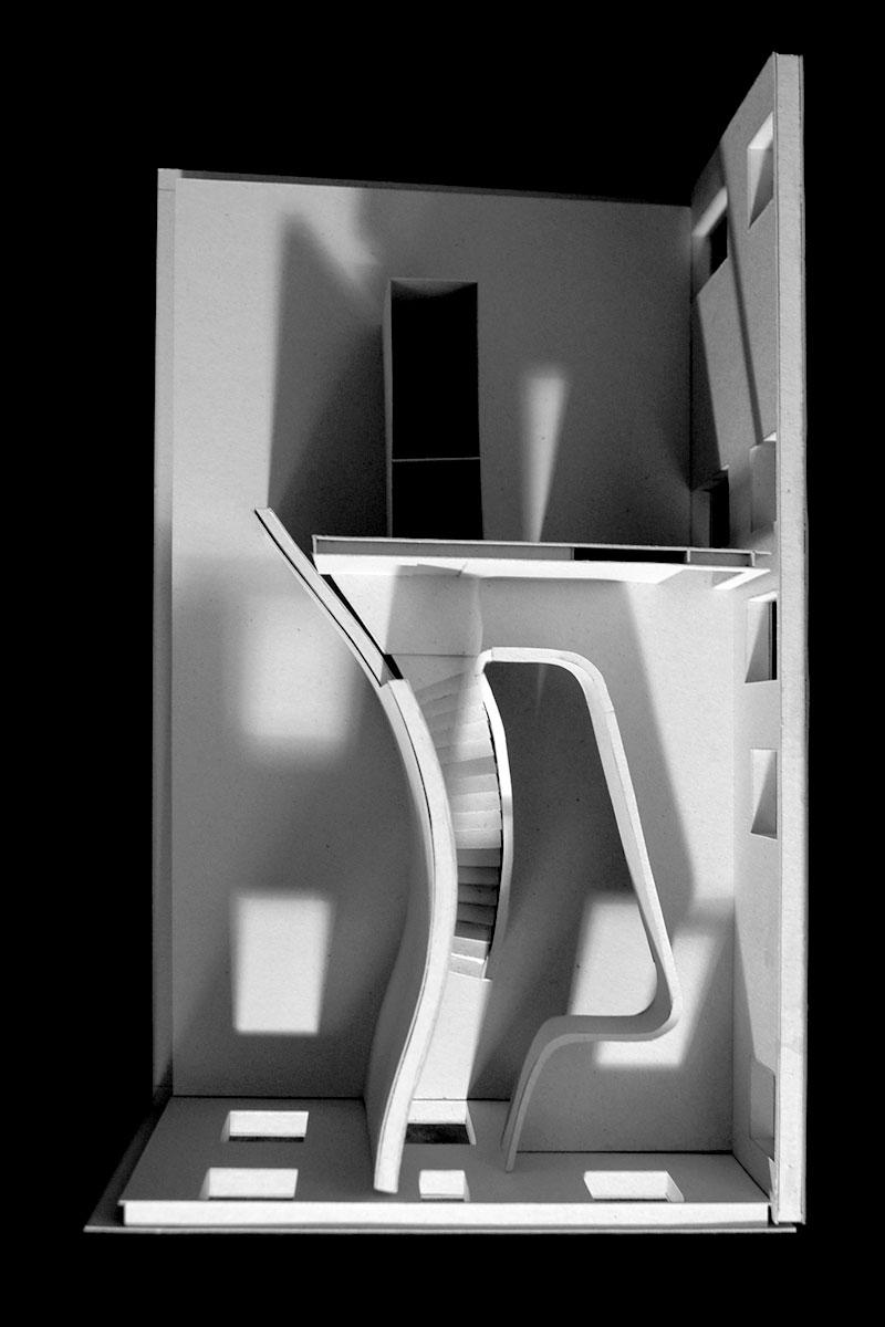 Haus für einen Kunstsammler, Entwurfsmodell