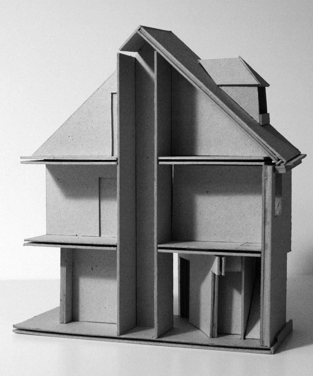 Haus für einen Kunstsammler, Schnittmodell
