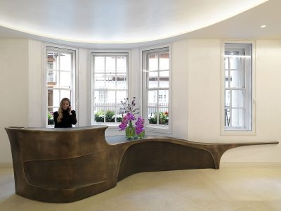 Grosvenor Street, new reception desk with receptionist