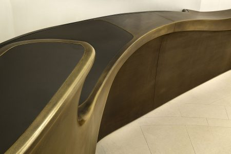 Grosvenor Street, bronze reception desk