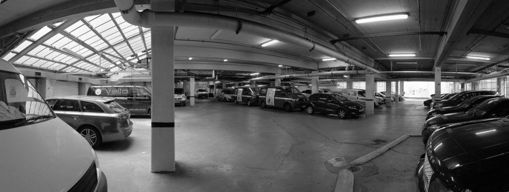 Car park before conversion