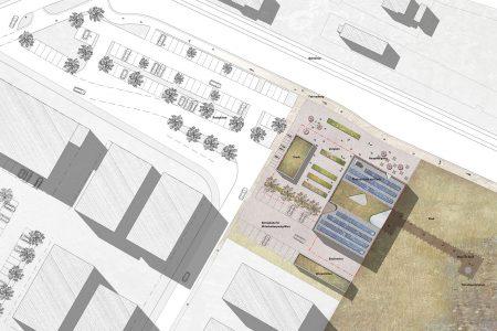 Nabu visitor centre, site plan