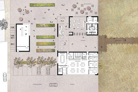 Nabu visitor centre, ground floor plan