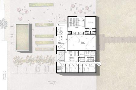 Nabu visitor centre, first floor plan