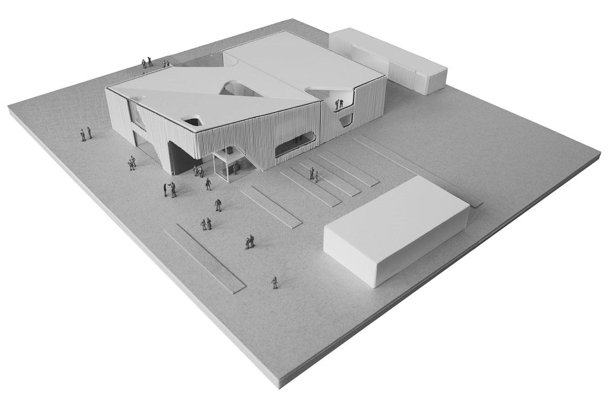 Nabu visitor centre, model