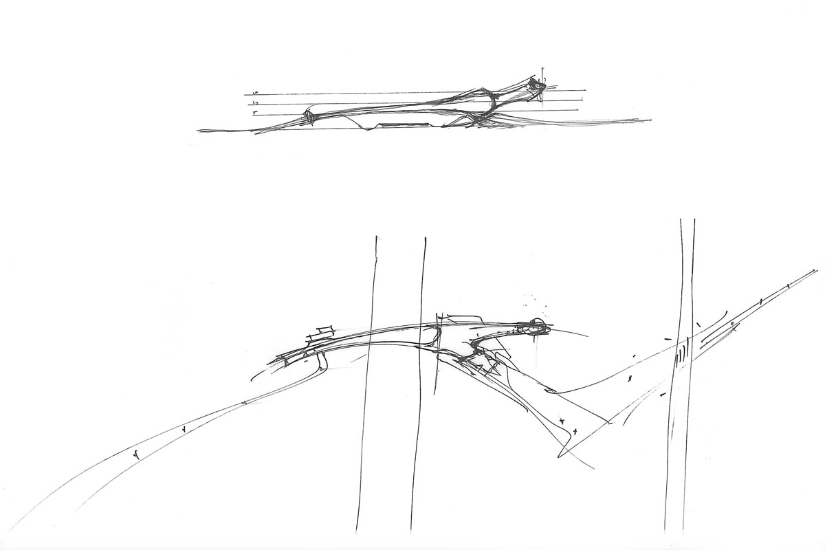 Concept Sketch of Wetland Bridge