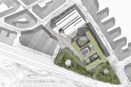 Archaeological Centre Mainz, site plan