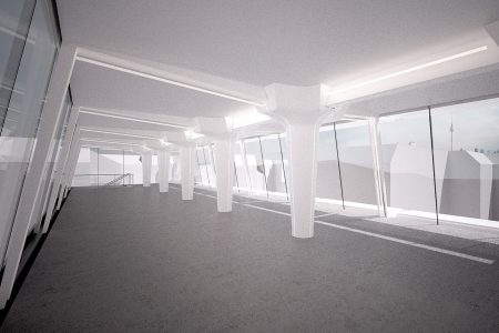 Media factory, visualisation of roof top extension