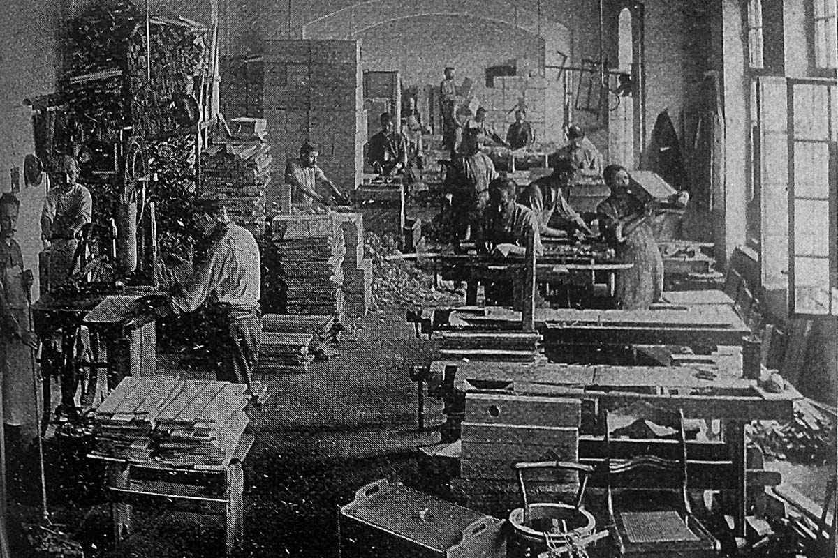 Media factory, Historic photo of interior
