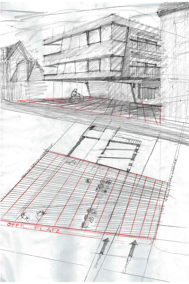 Rostocker Strasse Design sketch