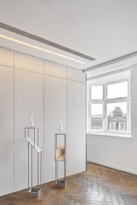Twisted Plinths in apartment