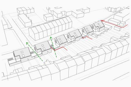 Victoria Park Village axonometric drawing