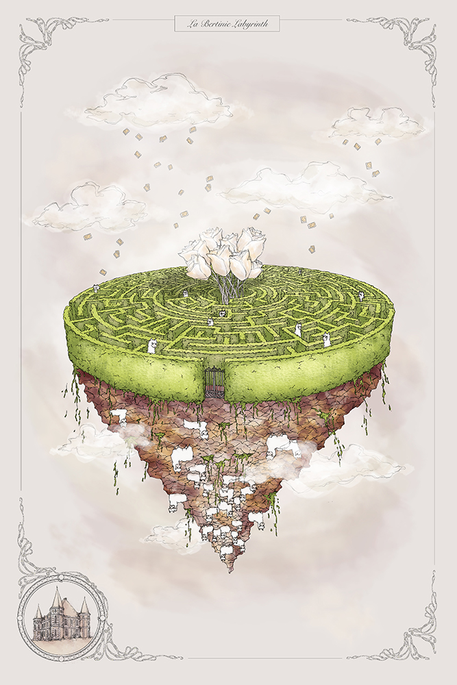 concept drawing of the maze design