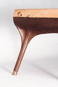 Zoomorph, detail of bespoke bench