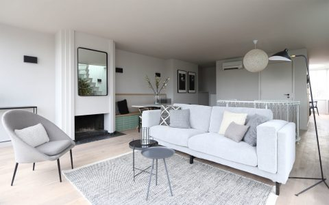 Living room in Amstel Canal House