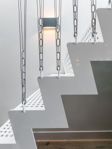 Staircase detail in Amstel Canal House