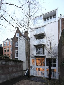 Garden elevation of Amstel Canal House