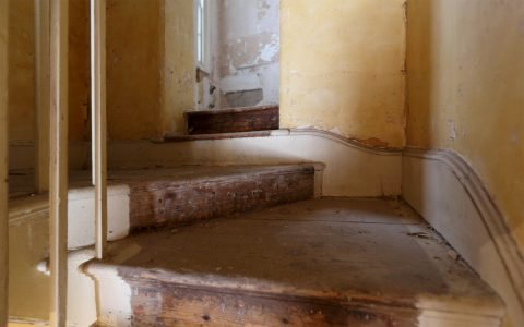 Original stair and skirting board
