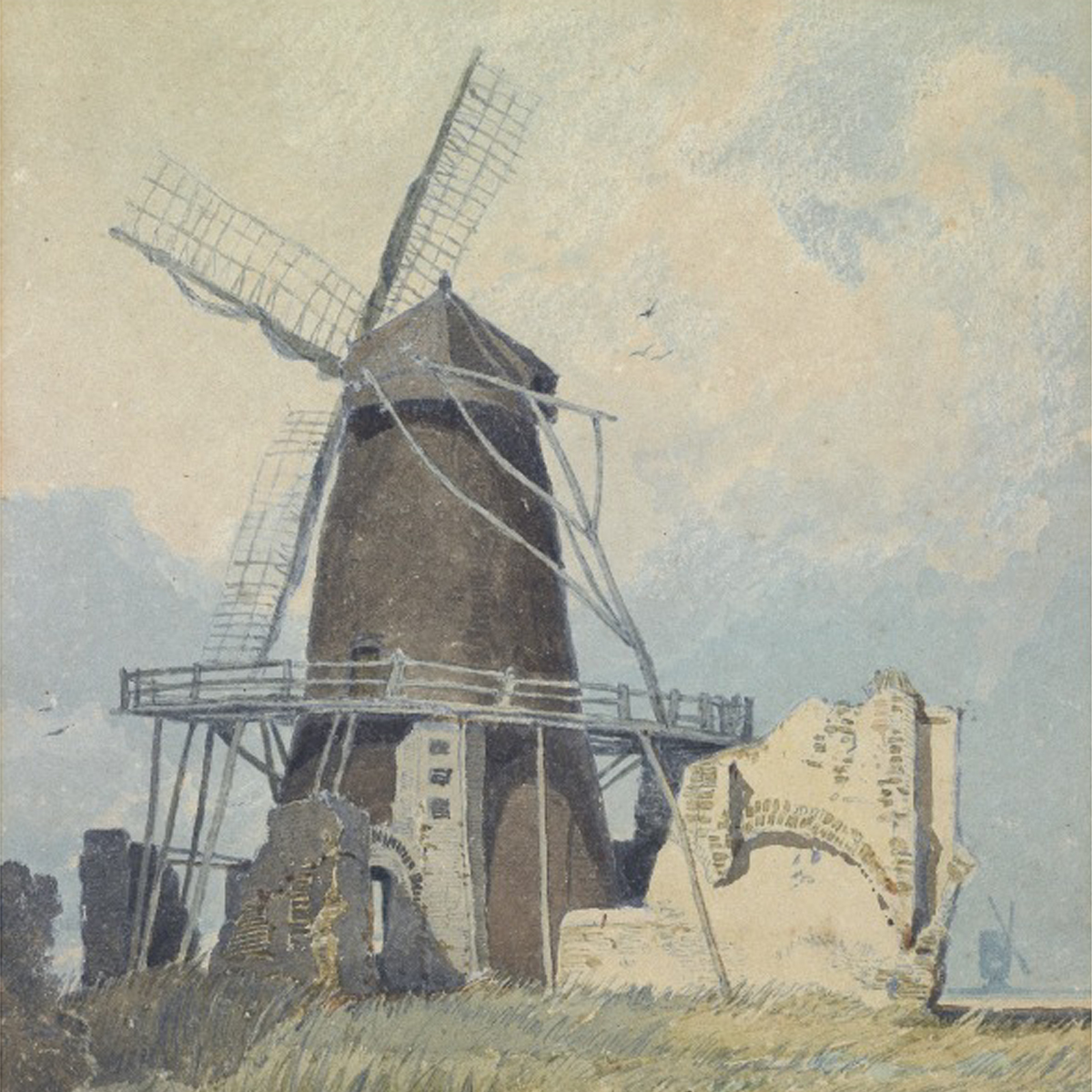 Painting of The Mill St Benet's Abbey