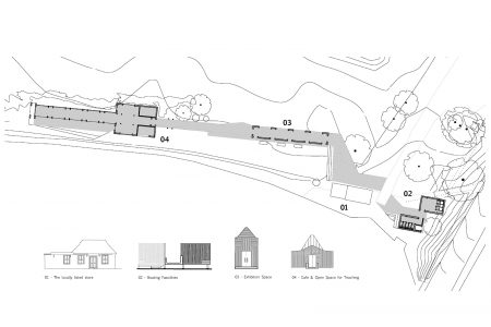 site plan of Norfolk Broads Visitor's Centre