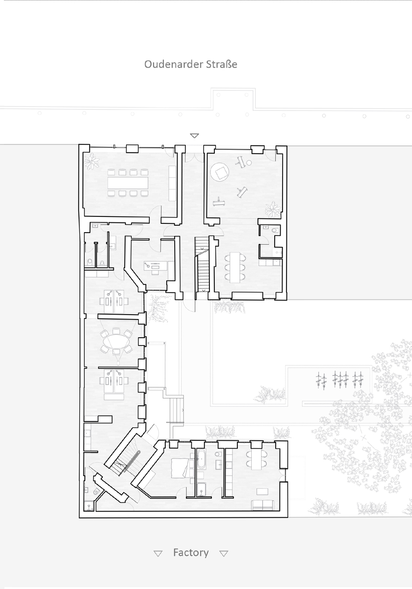 Refurbishment Berlin apartments, New ground floor layout at Oudenarder Str. 29, Berlin Wedding