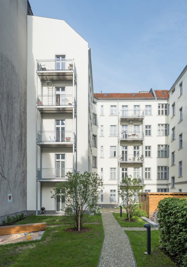 Refurbishment Berlin apartments, New courtyard at Oudernarder Str 29, Berlin