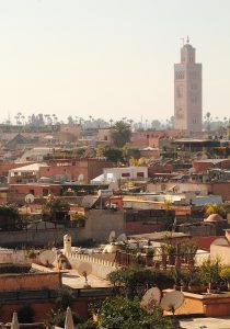 Marrakech, rooftop view