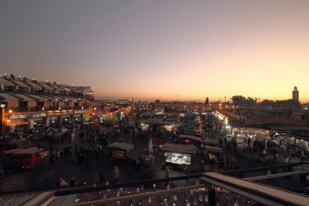 Marrakech, Jemaa el Fna at sunset