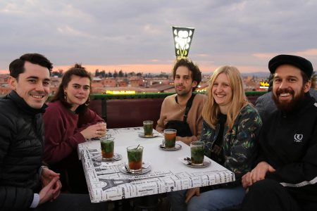 Marrakech, Patalab team at Jemaa el Fna